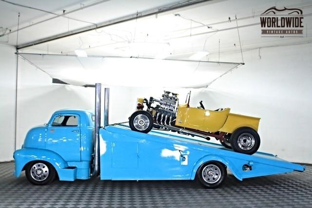 1954 Chevrolet Coe Roll Back Car Hauler Worldwide Vintage Autos