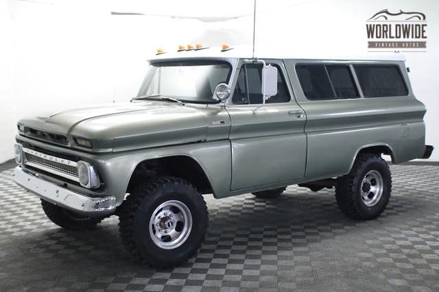 283 Chevy Performance 1966 Chevrolet Suburban NAPCO 4X4 | Worldwide Vintage Autos