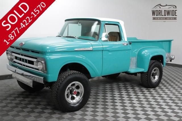 1961 Ford F100 Stepside Truck Rare Factory 4x4 Red