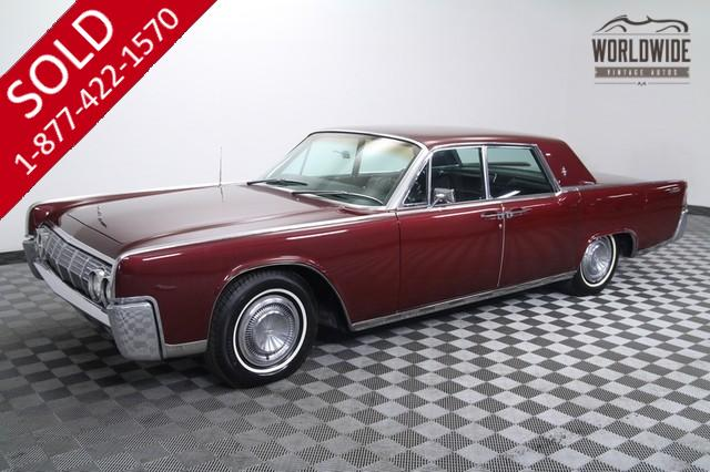 RARE 1964 LINCOLN CONTINENTAL SUICIDE DOORS. V8!. A/C! RESTORED.