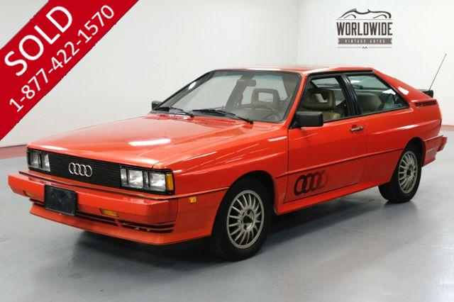 1983 AUDI QUATTRO COLLECTOR! 1 OF 664! ORIGINAL PAINT! 1 OWNER