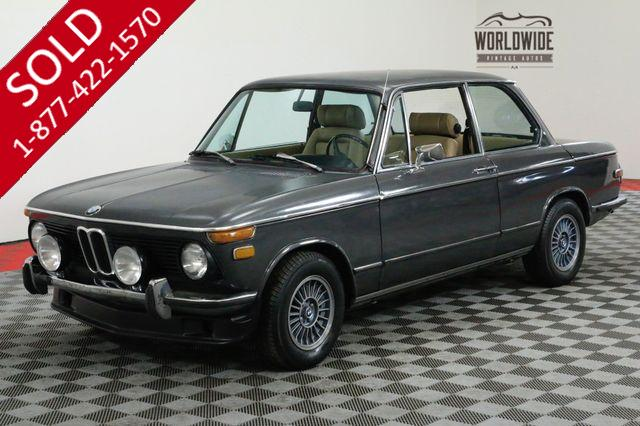 1975 BMW 2002 4-SPEED SMALL BUMPERS RECARO SEATS MUST SEE
