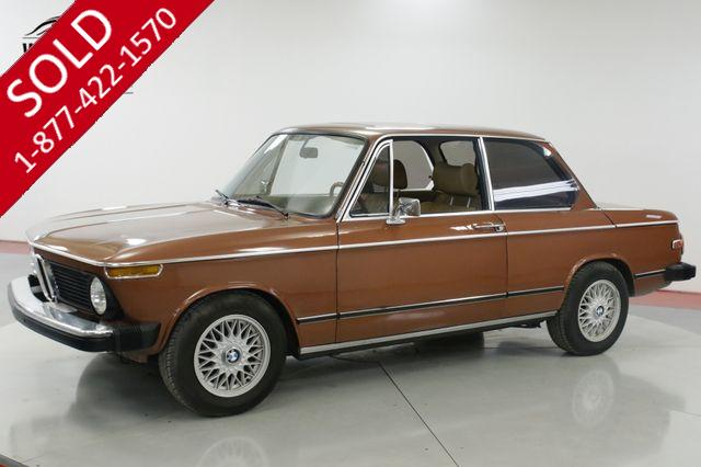 1976 BMW 2002 EXCELLENT CONDITION FACTORY AC & SUNROOF