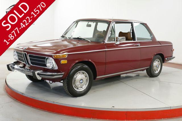 1973 BMW 2002  ROUNDIE 2 OWNER  COLLECTOR GRADE CLEAN