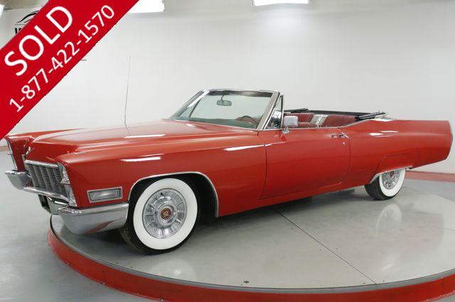 1968 CADILLAC DEVILLE 472 V8 AUTOMATIC POWER TOP WIDE WHITE RADIAL