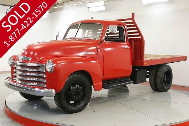 1948 CHEVROLET  3100 5 WINDOW 3/4 TON FLATBED INLINE 6 CYL RARE