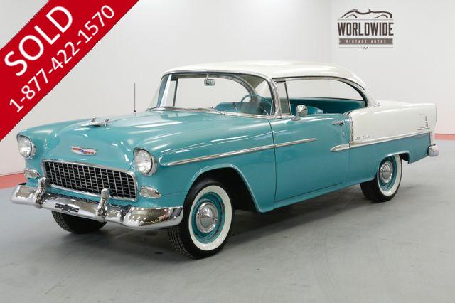 1955 CHEVROLET BEL AIR 2 DR HARDTOP 283V8 AUTO WONDERBAR RADIO