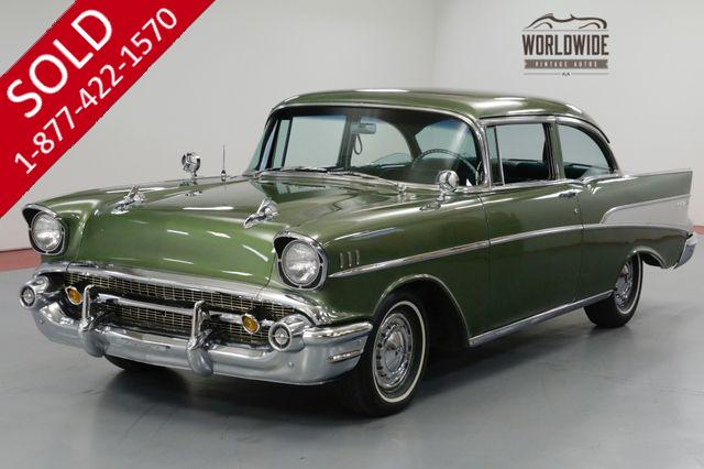 1957 CHEVROLET BEL AIR  TWO OWNER. RESTORED. 350V8. TH350 AUTOMATIC.
