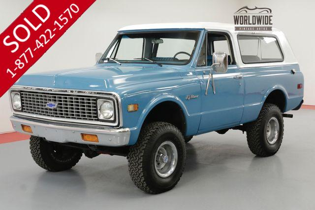 1971 CHEVROLET BLAZER K5 RESTORED CONVERTIBLE WITH FULL ROLL CAGE