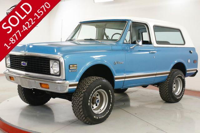 1972 CHEVROLET  BLAZER CST PACKAGE 350 V8 AUTO PS PB DANA 44 AXLES