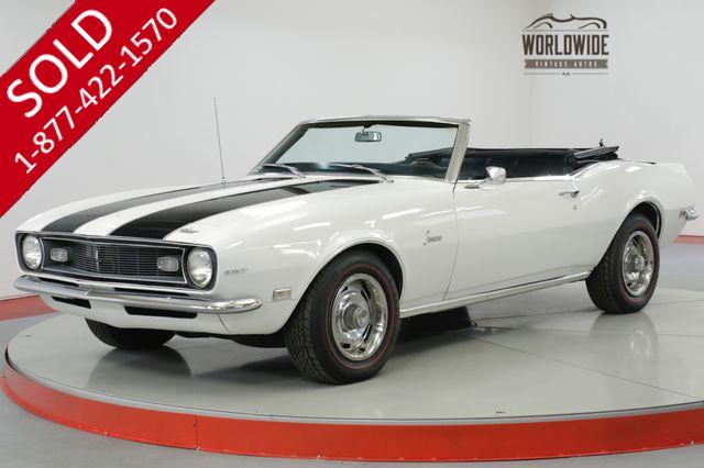 1968 CHEVROLET CAMARO RARE CONVERTIBLE HIGHLY OPTIONED V8 MUST SEE (VIP)