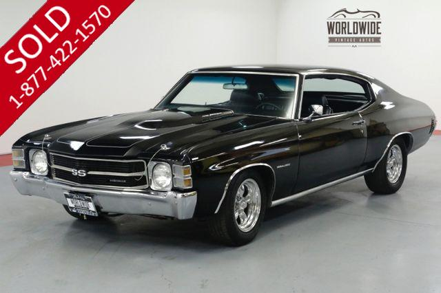 1971 CHEVROLET CHEVELLE SS TRIBUTE. STUNNING BLACK. PS. PB. CONSOLE SHIFT.
