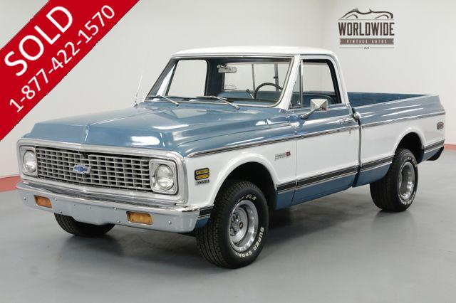 1972 CHEVROLET CHEYENNE SHORTBOX PICKUP 350V8 A/C TRUCK MUST SEE