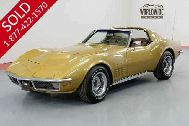 1971 CHEVROLET CORVETTE LS5 BIG BLOCK # MATCH 4 SPEED PS PB AC DISC