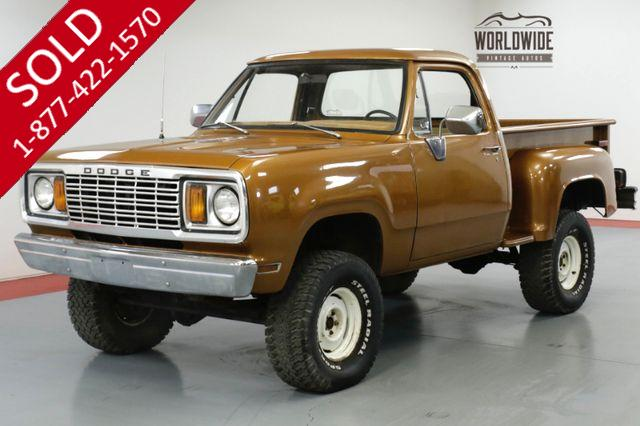 1978 DODGE POWER WAGON ONE OWNER, V8, PS, PB, FACTORY
