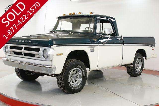 1971 DODGE  POWER WAGON  RARE SHORT BED FACTORY 4X4 BIG BLOCK 383 V8