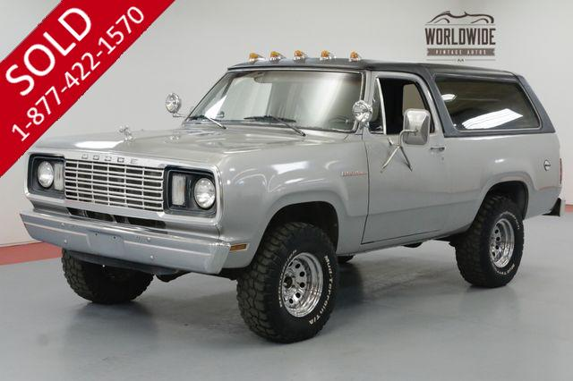 1978 DODGE RAM CHARGER 360 V8. A/C! 4X4. REAR TWO YEAR BODY STYLE