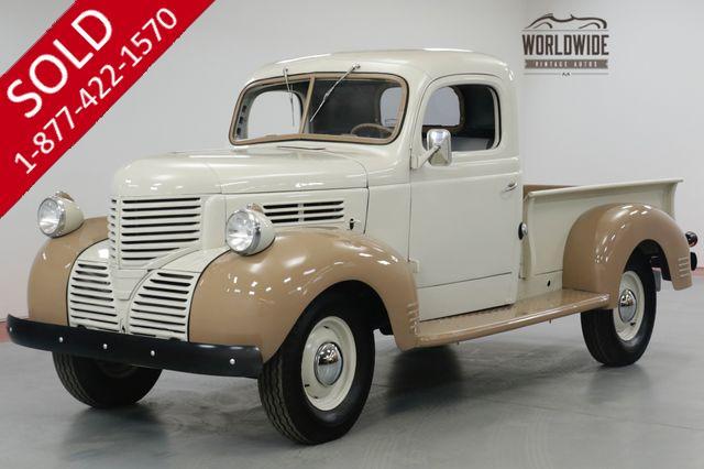 1939 DODGE  TC RESTORED TC PICKUP. STOCK INLINE MOTOR. (VIP)