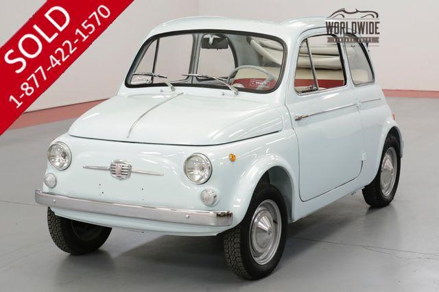 1964 FIAT 500D MANUAL FULL ROOF RAGTOP SUICIDE DOORS  (VIP)