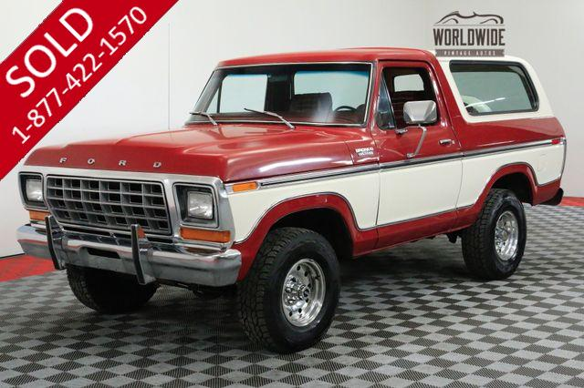 1979 FORD BRONCO RESTORED COLLECTOR. 89K MILES. RARE 4X4 AC
