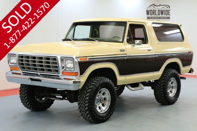 1979 FORD BRONCO  FULL SIZE ENGINE 4 SPEED MANUAL