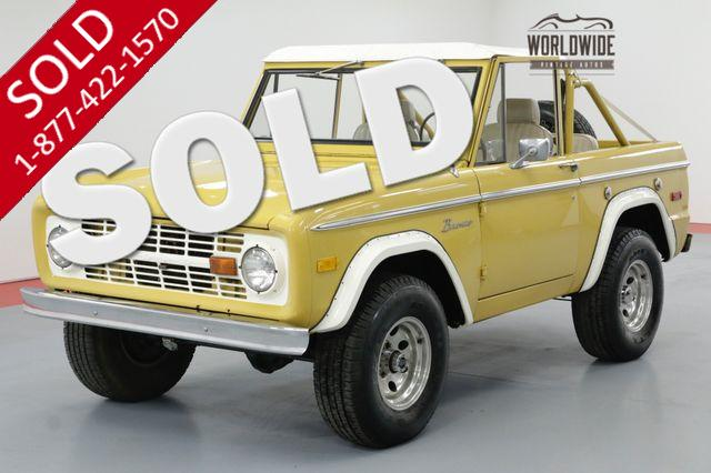 1973 FORD BRONCO 4X4 PS PB AC RARE COLOR AUTO CRUISER
