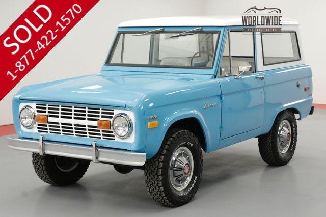 1970 FORD BRONCO FRAME OFF RESTORED UNCUT 302V8