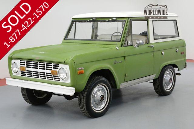 1973 FORD BRONCO UNCUT 4X4 302 V8 FACTORY AC ORIGINAL