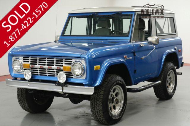 1970 FORD  BRONCO  FRAME OFF RESTORED. 8600 MILES! AC! PS! PB!