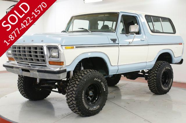 1979 FORD  BRONCO 4X4 NEW PAINT MANY CUSTOM OPTIONS RARE MODEL