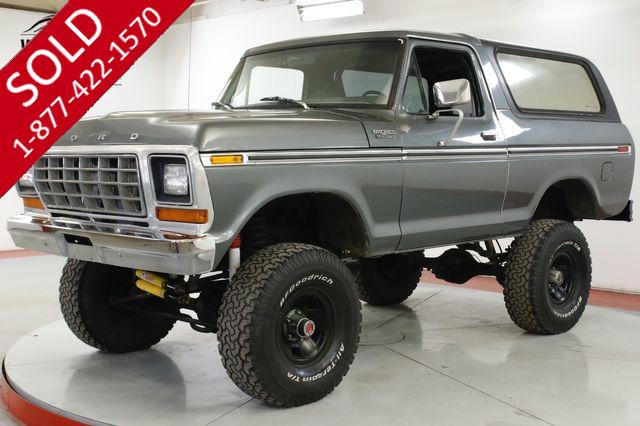 1979 FORD BRONCO 351M 4SPD 4X4 TOP TRACTION LOK 9IN REAR