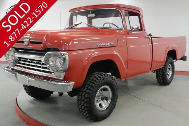 1960 FORD  F100 BIG WINDOW 4x4 352 V8 4 SPEED RARE TRUCK