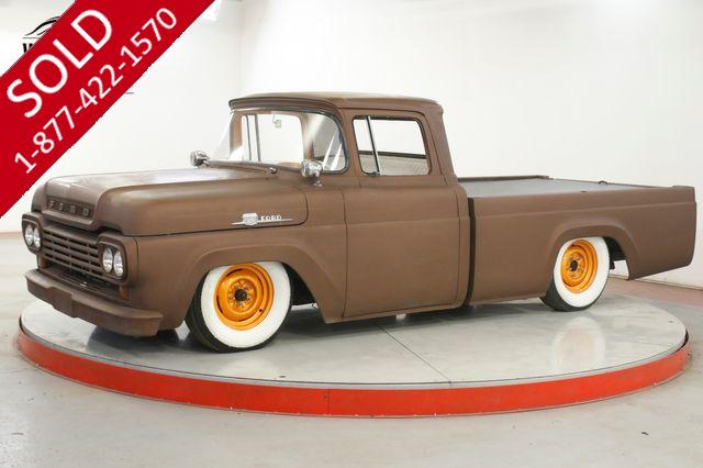 1959 FORD F100 RAT ROD V8 AUTO TRANS MANY OPTIONS AIR BAGS