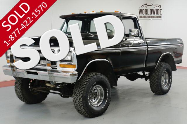 1979 FORD F150  RESTORED. SHORT BED 4x4. AC! CRATE 400 V8!