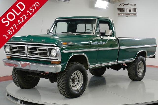 1970 FORD  F250  HIGH BOY. RARE 4x4. 360 V8! 72K ORIGINAL MILES!
