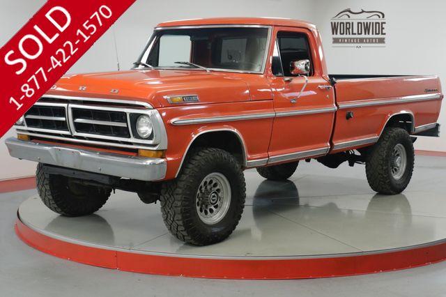 1971 FORD F250  390 V8. 4-SPEED PS PB 4X4 ONE TON AXLES