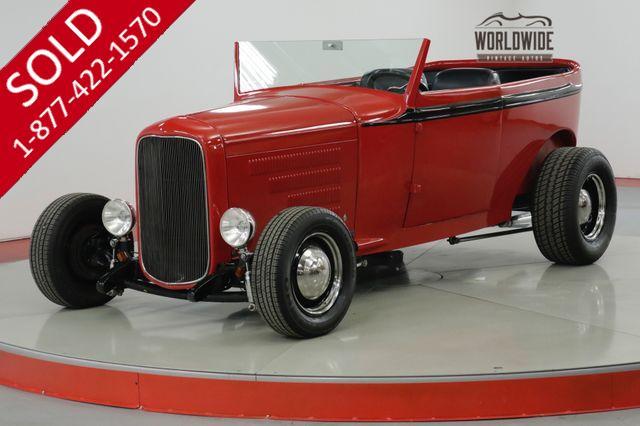 1930 FORD  MODEL A  ALL STEEL BODY. ROADSTER. STREET ROD. V8