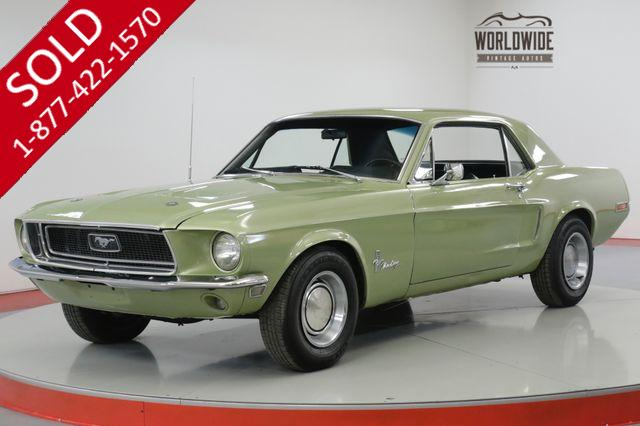 1968 FORD  MUSTANG C CODE 289 V8 4-SPEED