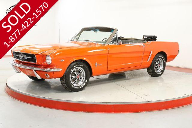 1965 FORD MUSTANG  CONVERTIBLE. RESTORED. V8. GT OPTIONS DISC