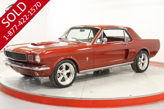1966 FORD MUSTANG  289 V8 AUTO 4 WHEEL DISC HOOD SCOOP PS PB