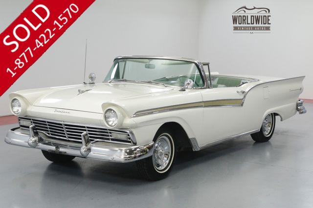 1957 FORD SKYLINER RETRACTABLE! V8! 45 YEAR OWNER! ORIGINAL!