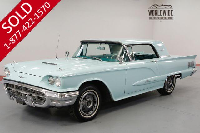 1960 FORD THUNDERBIRD 352 CID V8. AUTO. AQUAMARINE. 2 OWNERS!