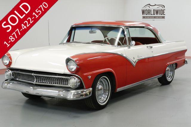 1955 FORD  VICTORIA BEAUTIFUL 2 DOOR NO POST CAR. V8. MANUAL