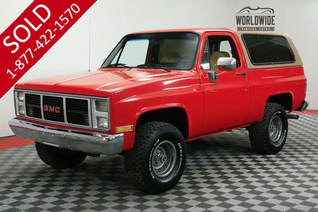 1988 GMC JIMMY REMOVABLE HARD TOP 4X4 A/C 350V8