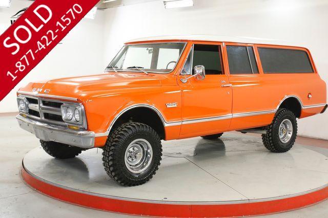 1968 GMC SUBURBAN 4X4  RARE 4X4 THREE DOOR 350 V8 4-SPEED PS PB