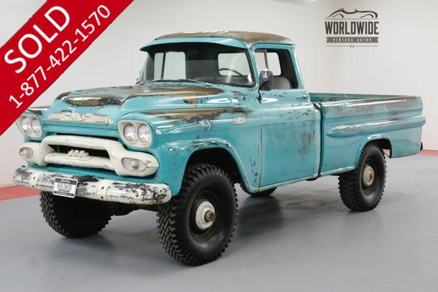 1959 GMC TRUCK FACTORY NAPCO 4X4 MANUAL 51000 MILES