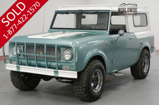 1961 INTERNATIONAL SCOUT 80  RESTORED. RARE 4X4. REMOVABLE HARDTOP. (VIP)