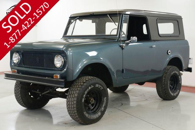 1965 INTERNATIONAL SCOUT 80 3SPD REMOVABLE TOP NEW PAINT LIFTED STANCE