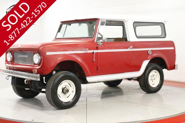 1961 INTERNATIONAL SCOUT 80  FACTORY DECALS LEATHER INTERIOR