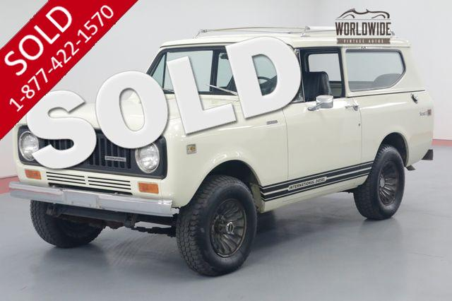 1980 INTERNATIONAL SCOUT RESTORED FACTORY TURBO DIESEL 4X4